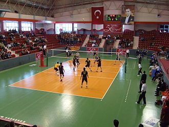 Selim Sırrı Tarcan Sport Hall - Image: Gs volleyball 150308