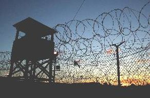 Guantanamo, Camp X-Ray, at Dusk January 2002.jpg