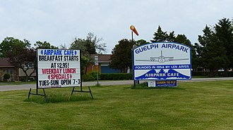Guelph Airport - Image: Guelph Airport Highway Signage