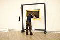 Guillaume Paumier studies a painting, at Wikimania 2015 Reception at Museo Soumaya.jpg