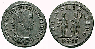 Sabinus Julianus - Antoninianus of Julianus, celebrating the two provinces of Pannonia.