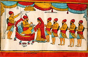 Singh - Creation of the Khalsa by Sikh Guru Gobind Singh, 1699