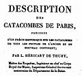 Héricart de Thury Description des Catacombes de Paris 1815.jpg