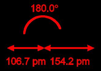 Methylidynephosphane - Image: HCP dimensions from MW IR 2D
