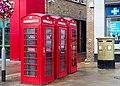 HE1080117 3 K6 Telephone Kiosks Outside Uxbridge London Regional Transport Station.jpg