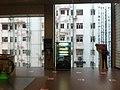 HK 堅尼地城 Kennedy Town 士美非路市政大廈 Smithfield Municipal Services Building lift lobby 外望景觀 view 聯德新樓 Luen Tak Apartments Sept-2011.jpg