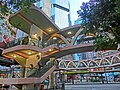 HK 銅鑼灣 Causeway Bay 糖街 Sugar Street evening Yee Woo Street footbridge Mar-2013.JPG