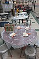 HK SWCC 上環市政大廈 Sheung Wan Cooked Food Centre interior Round tables with setting and plastic seats Jan-2018 IX1 (2).jpg