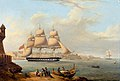 HMS Alfred leaving Grand Harbour 1833.jpg