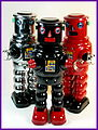 Ha Ha Toy – Tin Wind Up – Mechanical Robby Robot – with Masuyada R-35 Heads – Three Bucket Heads!!.jpg