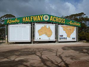 Kimba, South Australia - 'Halfway Across Australia' sign at Kimba