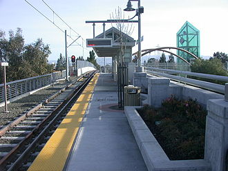Santa Clara Valley Transportation Authority light rail - View of the Hamilton Station.