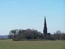 Hang Gliding above the Parish Church, Wentworth - geograph.org.uk - 1755083.jpg