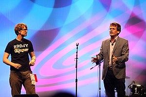 Nerdfighteria - Hank (left) and John Green at VidCon 2012
