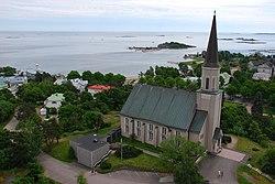 Hanko Church from water tower.jpg
