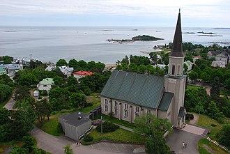 Johan Jacob Ahrenberg - Image: Hanko Church from water tower