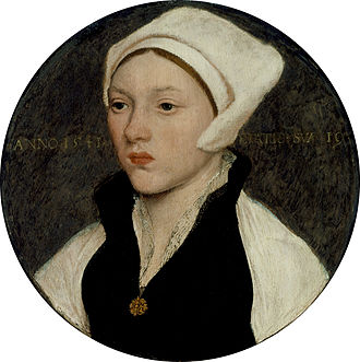 Coif - Young Woman with a White Coif by Hans Holbein the Younger, 1541