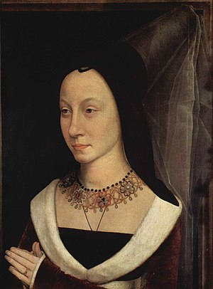 Portrait of Maria Portinari - Portrait of Maria Portinari, c. 1470–72. Including frame: 44.1 x 34cm (17 3/8 x 13 3/8in).  Metropolitan Museum of Art, New York
