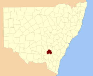 Harden County Cadastral in New South Wales, Australia
