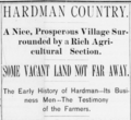 Hardman Oregon Newspaper Article 1892.png