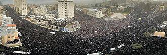 Haredi demonstration against the conscription of yeshiva pupils