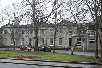 Harlaw Academy - The exterior of the school, as seen from Albyn Place.