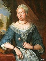 Maria de Veer (1681-1759). Tweede echtgenote van Meynard Merens