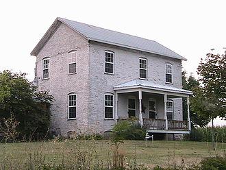 Harold Osborn - Harold Osborn family farmhouse in Butler Grove Township, 5 miles north of Hillsboro, IL – August 2007.