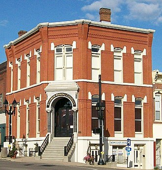 National Register of Historic Places listings in Harrison County, Ohio - Image: Harrison County Bank Cadiz Ohio