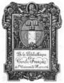Harvard University Cercle du Francais bookplate.png