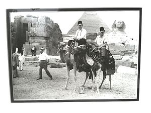 Harvey's - Harvey's Foods co-founders, George B. Sukornyk (pictured left) and Rick Mauran (right) at the Pyramids in Cairo, Egypt, in 1962