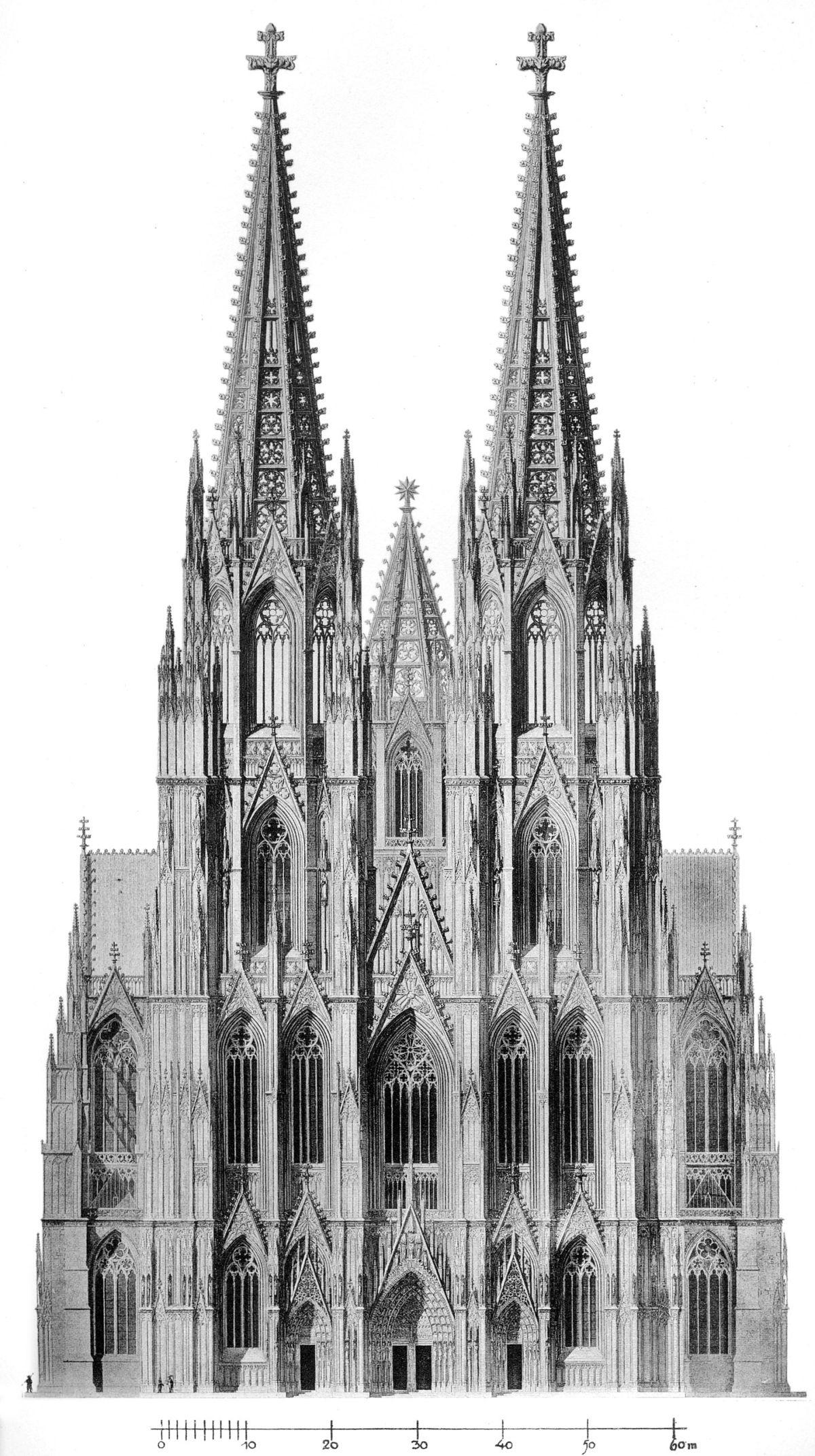 Hasak - Der Dom zu Köln - Bild 18 Westansicht Boisseree.jpg