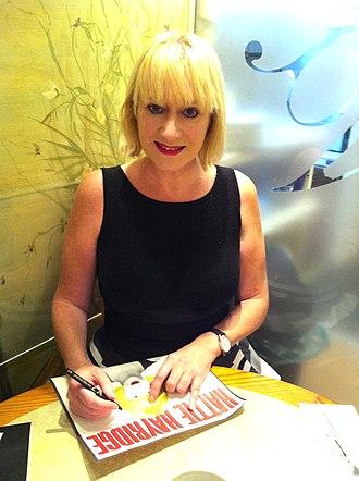 Hattie Hayridge - Hayridge signing autographs in 2014
