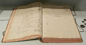 Accounting - Early 19th-century ledger.