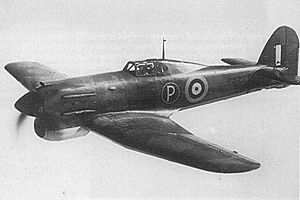 Rolls-Royce Vulture - Vulture powered Hawker Tornado prototype, with two rows of ejector exhausts