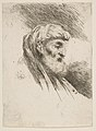 Head of an old bearded Man facing Right MET DP816535.jpg