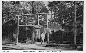 Camp Patrick Henry - Image: Headquarters, Camp Patrick Henry, VA