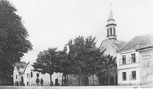 Heiligenstadt, Vienna - The parish church in Heiligenstadt in 1900