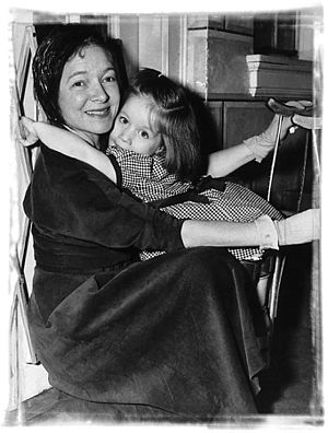 Helen Hayes - Helen Hayes and young patient at Helen Hayes Hospital 1945