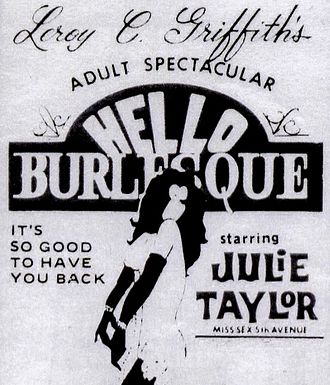 Leroy Griffith - A promotional poster for Griffith's '60s Broadway revue, Hello Burlesque.