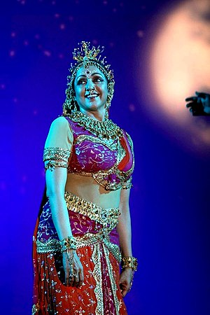 Hema Malini - Malini performing at a concert