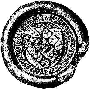 Hemming Gadh - Seal of Hemming Gadh as bishop, 1501