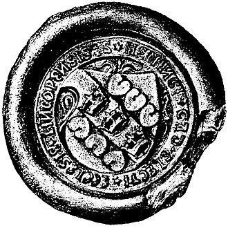 Hemming Gadh - Seal of Hemming Gadh as bishop, 1501
