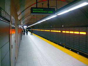 Henri-Bourassa station - Henri-Bourassa third platform