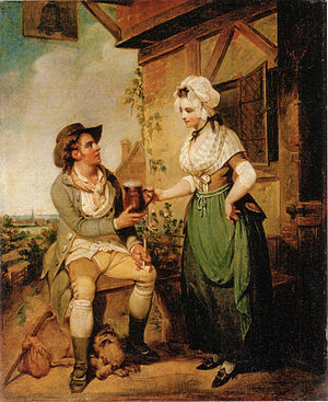 Henry Singleton (painter) - The Ale-House Door, circa 1790.