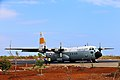 Hercules C-130 TNI AU Mendarat di Runway Bandara Tambolaka - panoramio.jpg