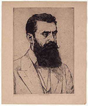 Hermann Struck - Portrait of Theodore Herzl