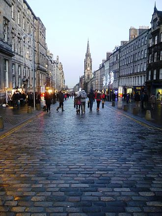 Sett (paving) - Image: High Street setts, Edinburgh