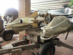 Seacat (missile) - SADF Hilda (Tigercat) missiles on launcher