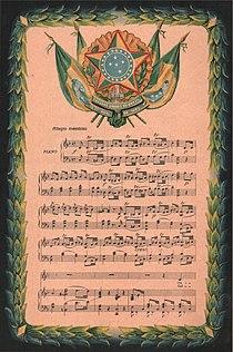 Brazilian National Anthem 1831 national anthem composed by Francisco Manuel da Silva with lyrics by Osório Duque-Estrada